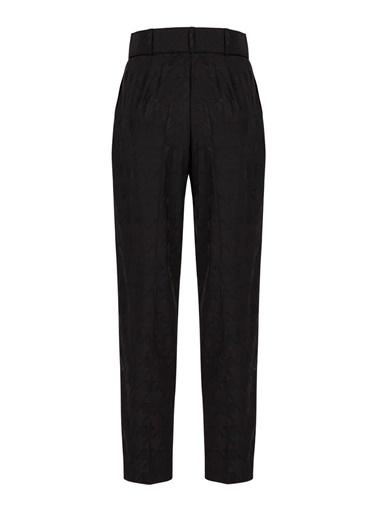 Nocturne Kazayağı Desenli Pantolon Siyah